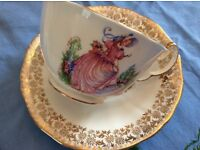 Imperial Bone China 'Pinkie' Cup and Saucer.