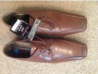 Mens size 12 leather shoes. New with labels.