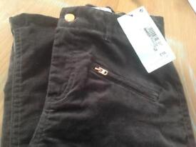 M&S girls grey jeans , rose gold detail age 11/12