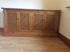 Sideboard chunky solid pine good condition