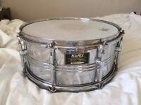 "Mapex Venus Steel Shell Snare Drum 14"" Good Cond"
