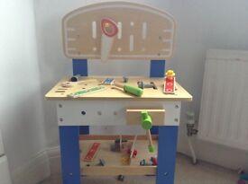 Toy wooden work benck