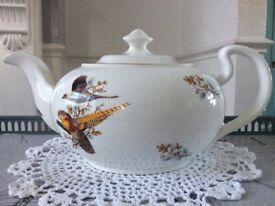 Bone China Pheasant Design large Tea Pot.