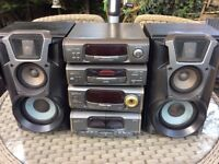 Stereo sound system Technics speaker system
