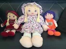 Three Beautiful Rag Dolls
