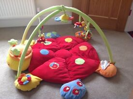 Mamas & Papas Lottie the ladybird playmat and gym