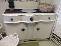 Shabby Chic curved front sideboard