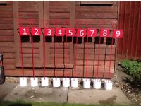 9 hole Garden Putting Set. Virtually brand new.