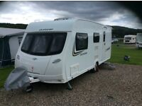 Lunar Quasar 524 2013 model 4 berth caravan with full awning and start up accessories
