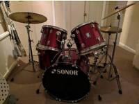 Sonor 5 series 5 piece drumkit