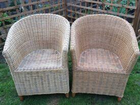 Cane tub chairs