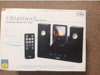 iPod docking station speaker.