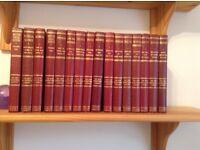 Leather bound encyclopaedia set