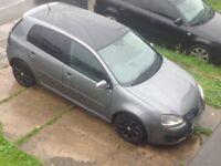 VW GOLF match GT BODY kit BLACK ROOF BLACK TINTED WINDOWS BLACK ALLOYS GENUINE MILLAGE ONLY 87 K