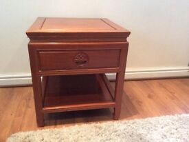 Rosewood side tables, bought in Hong Kong in the mid eighties
