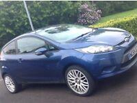 FORD FIESTA CAR ZETEC 2009 3 Door NAVY BLUE METALIC 52,700 Miles