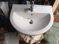 Vitra toilet, and washbasin