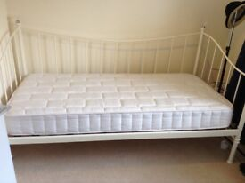 Cream daybed and mattress