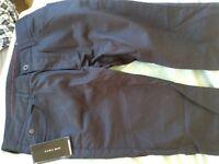 ZARA Men's Navy Blue Trousers size 34