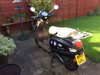 WK VS50 MOPED LAMBRETTA VESPA LOOKALIKE FOUR STROKE SO EXCELLENT PULLING POWER INCLUDES HELMET
