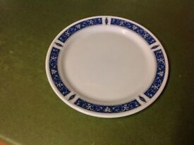 Dinner Plates - 33 Steelite International Blue Marina, and 29 matching Saucers