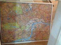 "Large inner London pinning board map ideal for "" the knowledge """