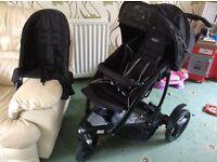GRACO TREKKO DUO TWIN DOUBLE PUSHCHAIR , PRAM BUGGY BASKET INFANT BABY