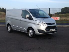 2015 FORD TRANSIT CUSTOM 290. TOP OF THE RANGE LIMITED MODEL WITH ONLY 14800 MILES. STUNNING VAN.