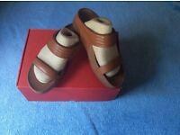 Tan Fitflop slip on sandals - UNWORN