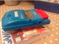 Nintendo gameboy colour Blue/Teal & Pokemon Red