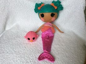 Lalaloopsy Sew Magical Mermaid Sand E. Starfish Doll Full Size like New x2, £8