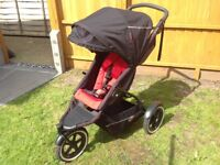 Phil and Teds Explorer Double Buggy Pram Pushchair Travelsystem