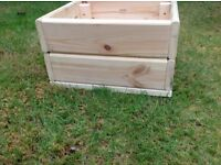 For sale - wooden flower planters