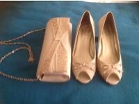 Wedding shoes and matching bag