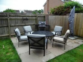 Jamie Oliver 4 seat fire pit table and chairs (plus extra 5th chair)