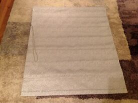 NEW dove grey Roman blind 80cm x 108cm quality product £40