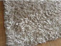 Champagne shaggy rug