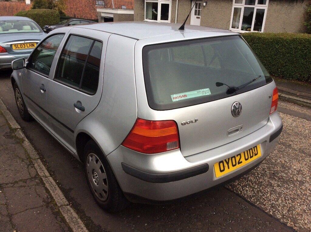 Volkswagen Golf 1.6;2002. Mot Dec,SPARES OR REPAIR...