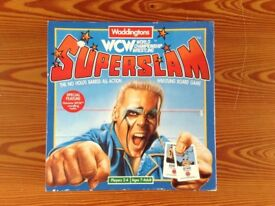 WRESTLING FIGURE BOARD GAME, COMPLETE/BOXED, GOOD CONDITION, IDEAL CHRISTMAS/BIRTHDAY PRESENT.
