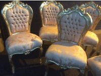 Gold French style chair