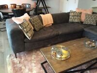 Barker and Stonehouse Leather Corner Sofa