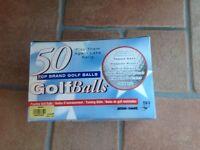 Box of 50 practice golf balls