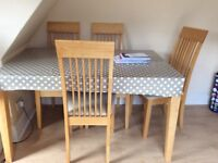 Four person dining table & chair set
