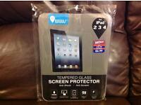 Ipad 2, 3, 4 tempered glass screen protector