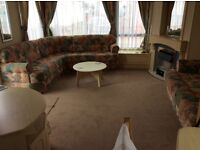 3bedroom static caravan for hire at 7 lakes country park crowle north Lincolnshire