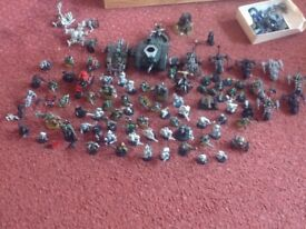 War hammer models 40K painted and unpainted. Over 50 figures including several vehicles