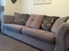 DFS Sofa, chair and footstool