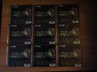 TDK DVD+RW Rewritable Discs, Unused and still sealed x 9