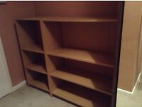 2 matching bookcases