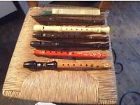 clarinets and recorders selection of between £5.00 and £10.00